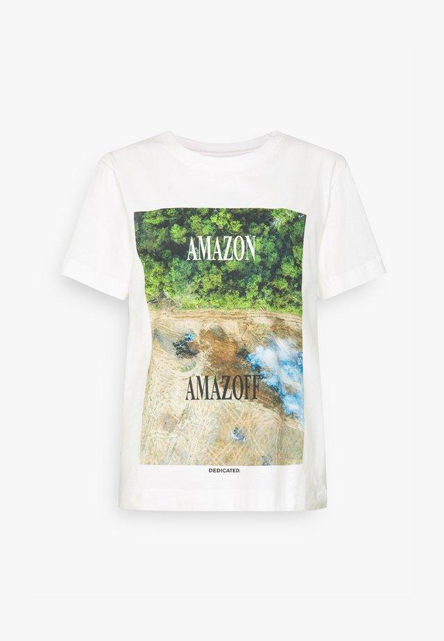 MYSEN AMAZOFF - Triko spotiskem - off-white