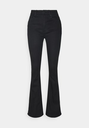 3301 HIGH FLARE - Flared Jeans - black metalloid cobler