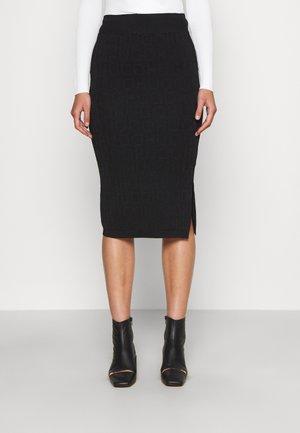 SAMENA - Pencil skirt - black