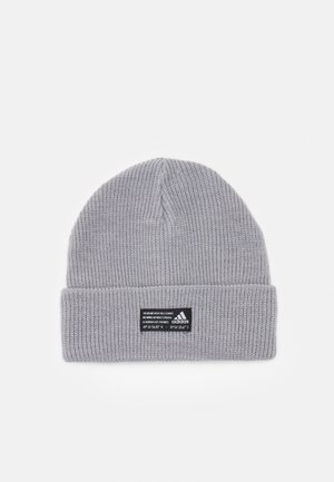 ESSENTIALS SPORTS BEANIE UNISEX - Pipo - medium grey heather/black/white