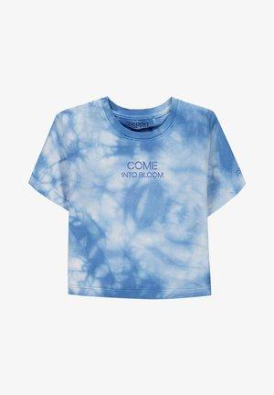 Print T-shirt - light blue lavender