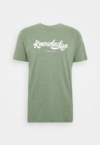 KnowledgeCotton Apparel - ALDER BIG TEE - T-Shirt print - mottled green - 3