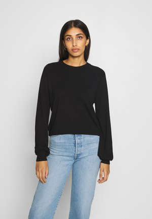 BASIC-BALLOON SLEEVE JUMPER - Jumper - black