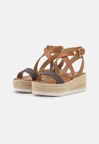MICHAEL Michael Kors - LOWRY WEDGE - Platform sandals - brown - 2