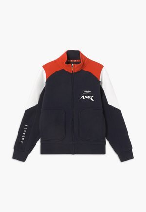 AMR MOTO - Zip-up hoodie - navy/red