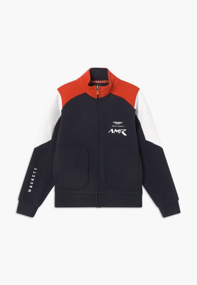 AMR MOTO - veste en sweat zippée - navy/red