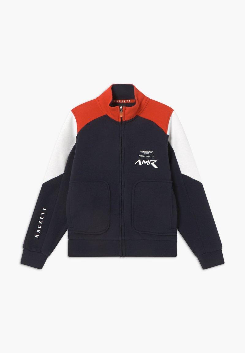 Hackett London - AMR MOTO - Zip-up hoodie - navy/red