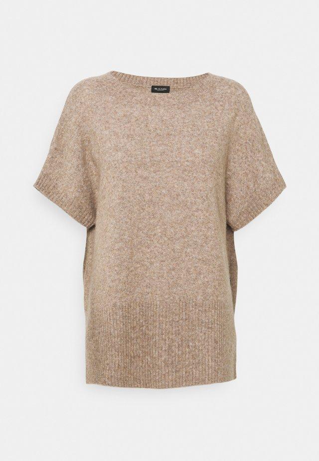 IZADI - T-shirt z nadrukiem - light camel