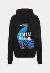 9N1M SENSE - SIDE PEACOCK HOODIE UNISEX - Sweatshirt - black - 10
