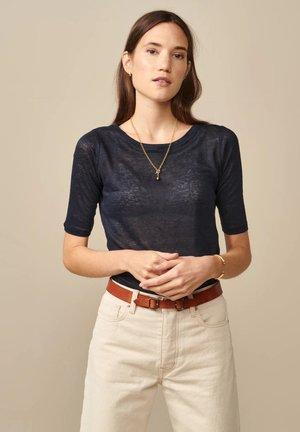 SEAS - Basic T-shirt - navyblau
