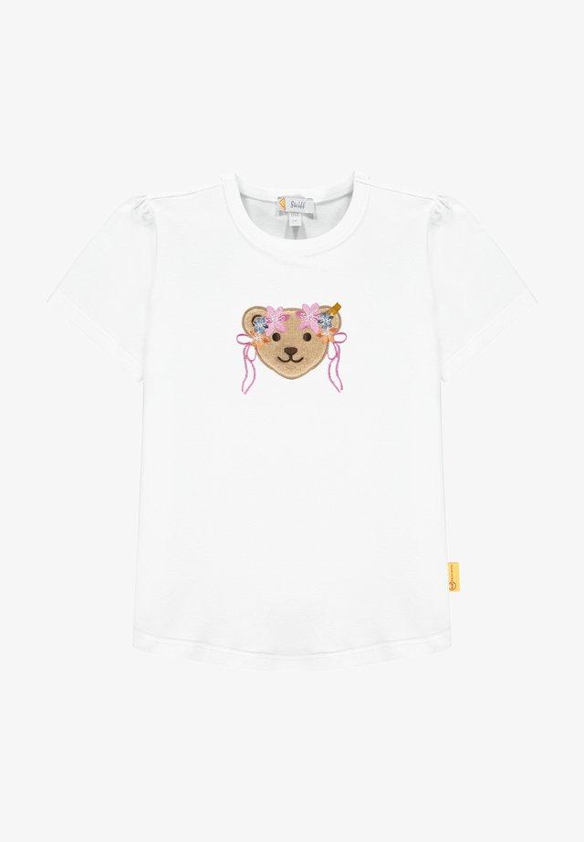 BUGS LIFE MIT GROSSEM BÄR MIT BLUMENKRANZ - T-shirt imprimé - bright white