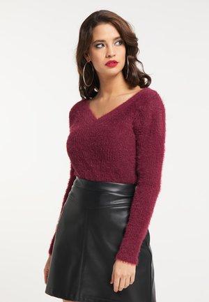 Sweter - bordeaux