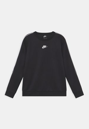 REPEAT CREW - Long sleeved top - black/white