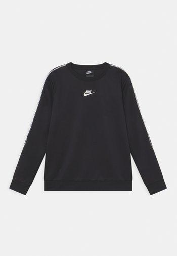 REPEAT CREW - Camiseta de manga larga - black/white