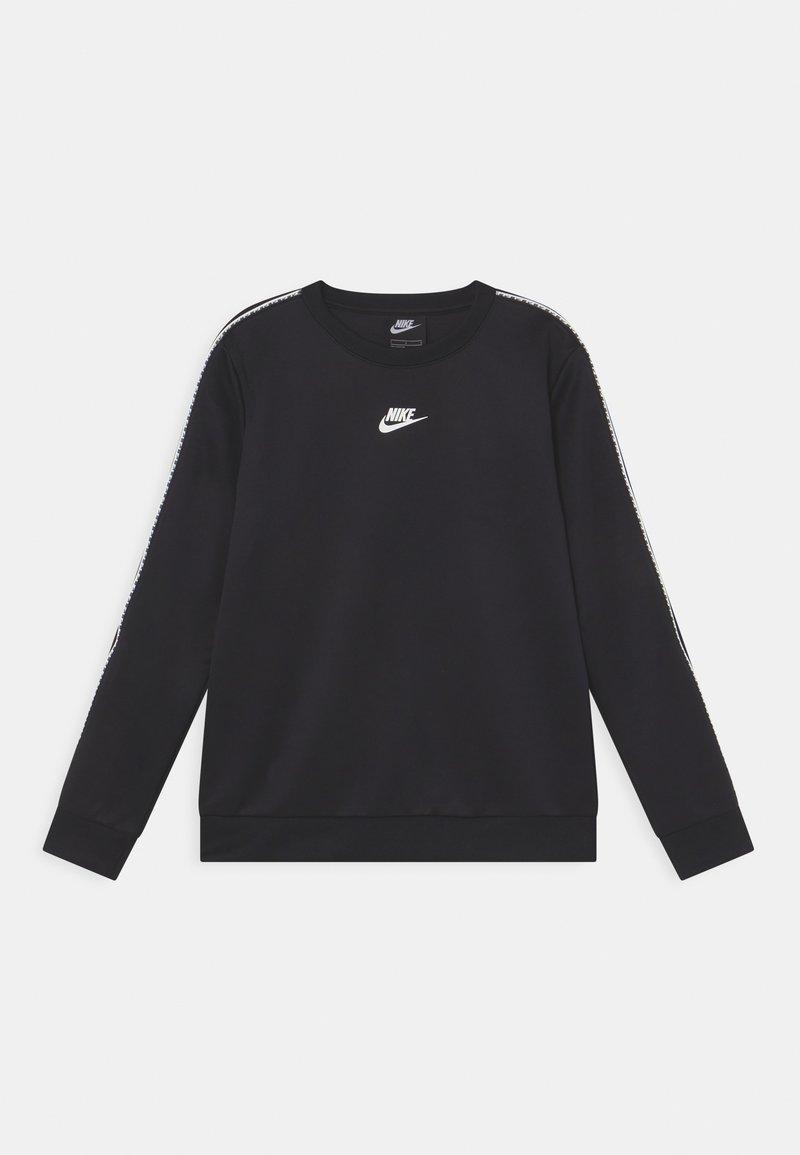 Nike Sportswear - REPEAT CREW - Camiseta de manga larga - black/white