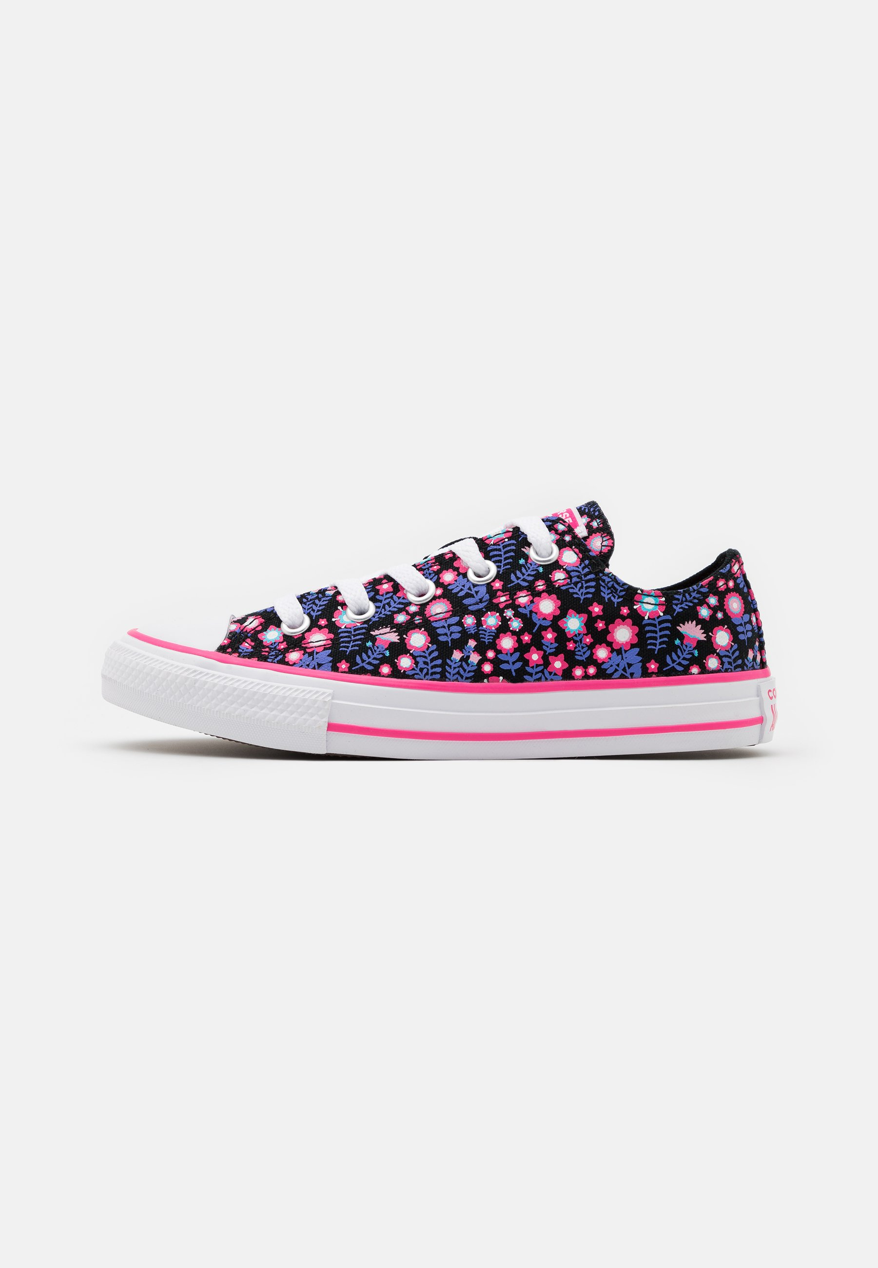 CHUCK TAYLOR ALL STAR FLORAL - Sneakers basse - black/bold pink/white