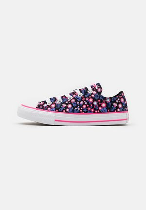 CHUCK TAYLOR ALL STAR FLORAL - Sneakers laag - black/bold pink/white