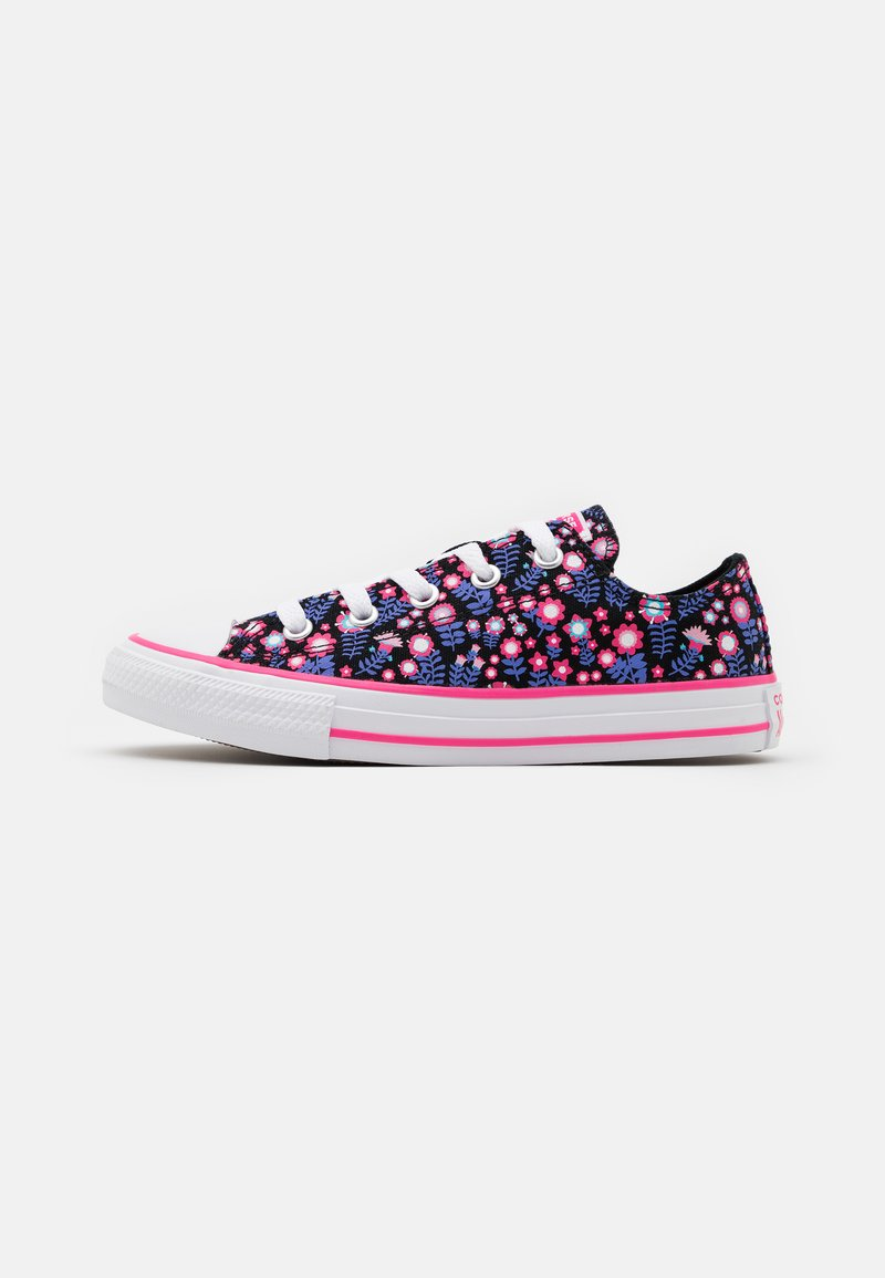 Converse - CHUCK TAYLOR ALL STAR FLORAL - Tenisky - black/bold pink/white