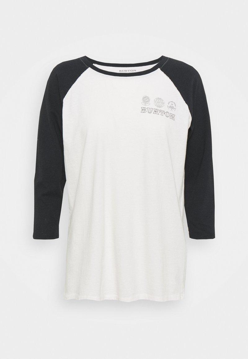 Burton - CARATUNK RAGLAN - Bluzka z długim rękawem - stowe white/true black