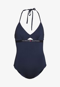 CORE SOLID LOGO ONE PIECE - Swimsuit - pitch blue