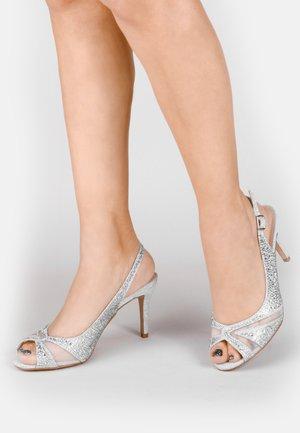 LIBRA  - High heeled sandals - silver