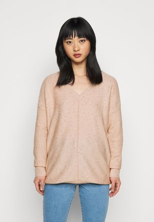 V NECK JUMPER - Jumper - blush