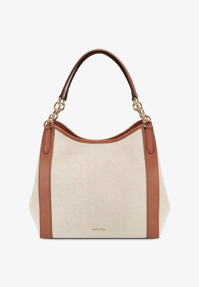 CHANNA - Shopping bag - khaki ivory