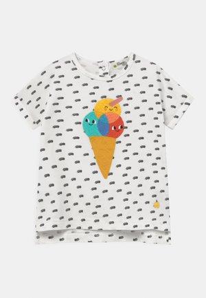 DAVID UNISEX - Print T-shirt - white
