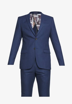 BRIGHT FLECK SUIT SLIM FIT - Suit - blue