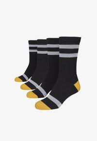 Urban Classics - 2 PACK - Socks - black/white/chromeyellow - 2
