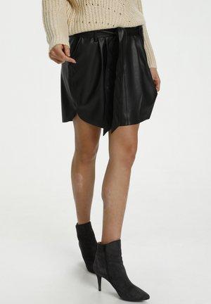 CANDREASZ - Jupe trapèze - black