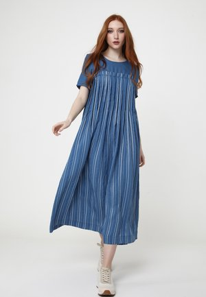 Snura - Day dress - dunkelblau, weiß