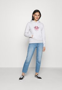 Tommy Jeans - ESSENTIAL LOGO HOODIE - Sweat à capuche - silver grey - 1