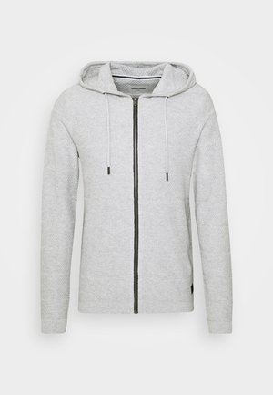 JCOSNOW HOOD CARDIGAN - Svetr - light grey melange