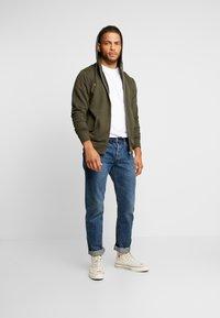 Solid - MORGAN ZIP - Zip-up hoodie - olive - 1