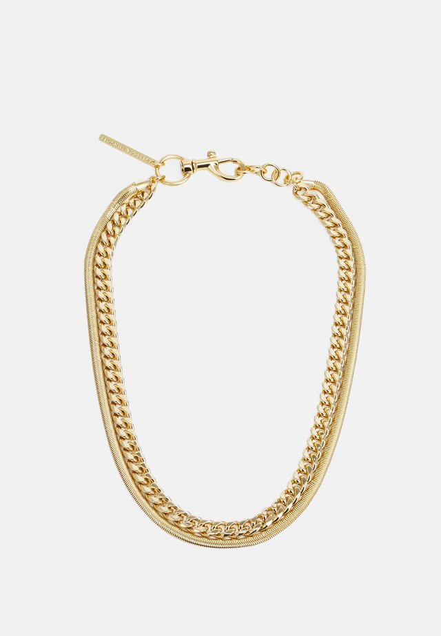 LAYERED CHAIN NECKLACE - Collana - gold-coloured