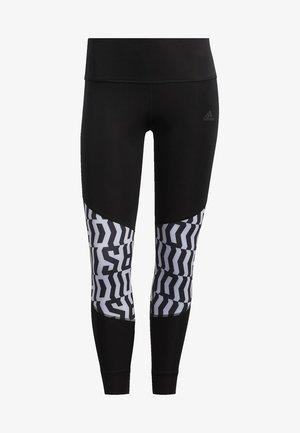 OWN THE RUN GRAPHIC LEGGINGS - Leggings - black