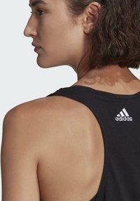 adidas Performance - ESSENTIALS LOOSE LOGO TANK TOP - Top - black - 3