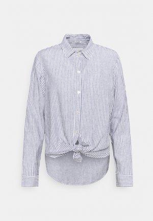 Button-down blouse - blue stripe