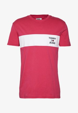 CHEST STRIPE LOGO - T-shirts print - bright cerise pink