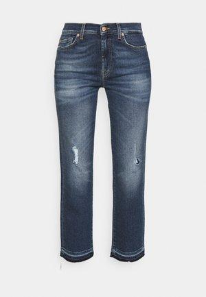 THE STRAIGHT CROP LUXVINMOM - Jeans straight leg - dark blue