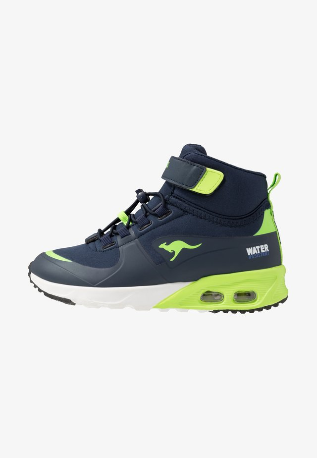 KX-HYDRO - Korkeavartiset tennarit - dark navy/lime
