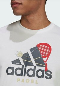 adidas Performance - PADEL GRAPHIC LOGO T-SHIRT - Print T-shirt - white - 3