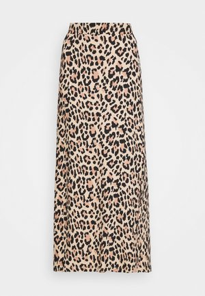 VISUN SKIRT - Maxi skirt - tigers eye