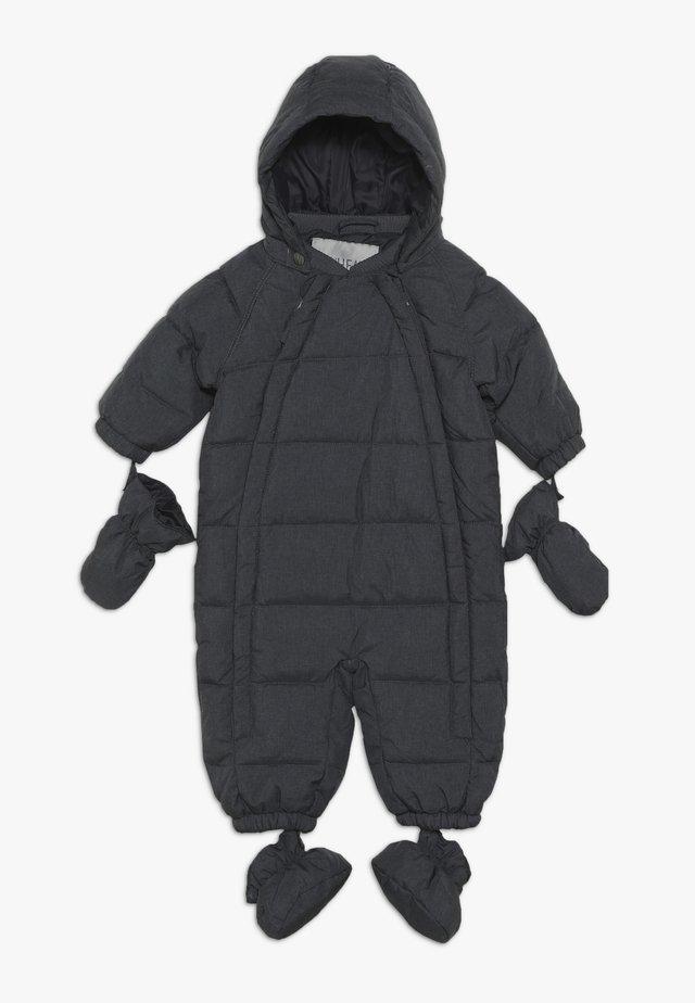 BABY SUIT  - Snowsuit - blue iron melange