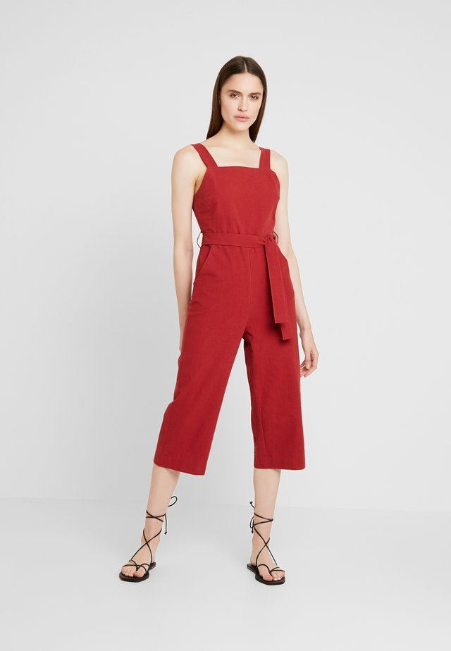 DAWSON - Overall / Jumpsuit /Buksedragter - burgundy