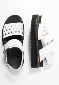 Dr. Martens - VOSS STUD - Platform sandals - white - 3