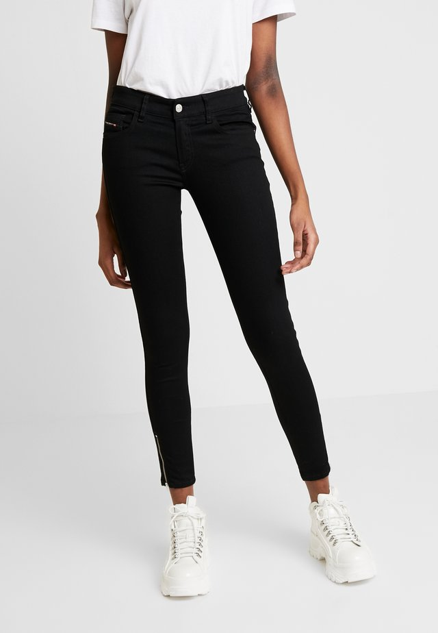 SLANDY LOW ZIP - Jeans Skinny - black
