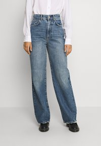 Gina Tricot - IDUN WIDE - Relaxed fit jeans - dark sea blue - 0
