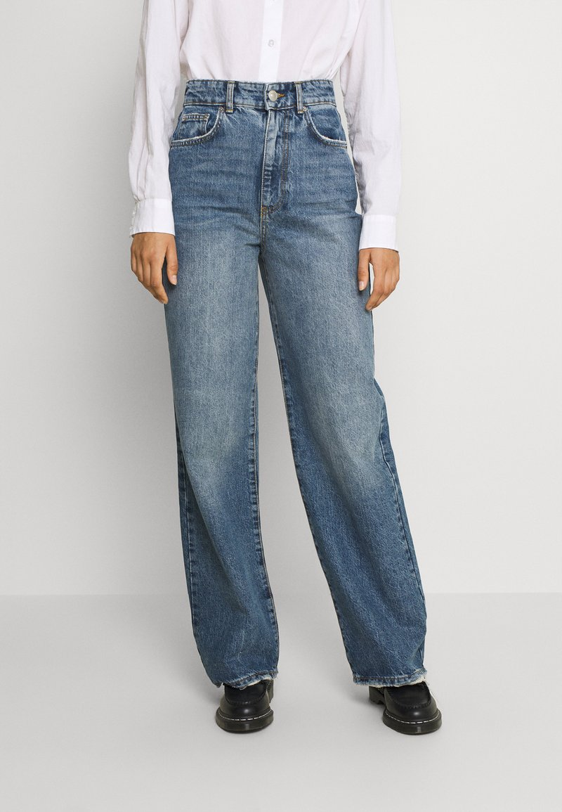 Gina Tricot - IDUN WIDE - Relaxed fit jeans - dark sea blue